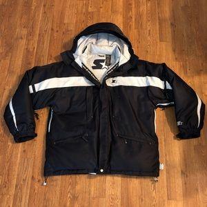 VTG Navy STARTER Puffer Jacket, Size: Large
